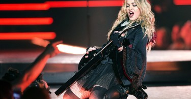 Madonna performs during the premiere of her Rebel Heart tour Wednesday, Sept. 9, 2015 in Montreal.  (Ryan Remiorz/The Canadian Press via AP)