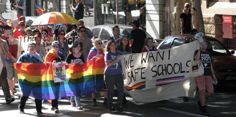 Safe Schools protest