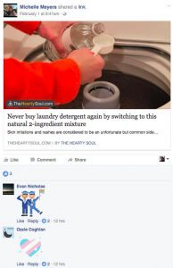 Michelle Meyers' post on laundry detergent