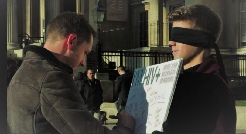 London George Hankers HIV Blindfold
